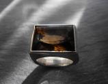 Ring 925 Silber mit Rauchquarz